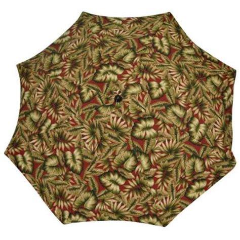 naturally playful leaf pattern umbrella plantation patterns 7 1 2 ft patio umbrella in chili
