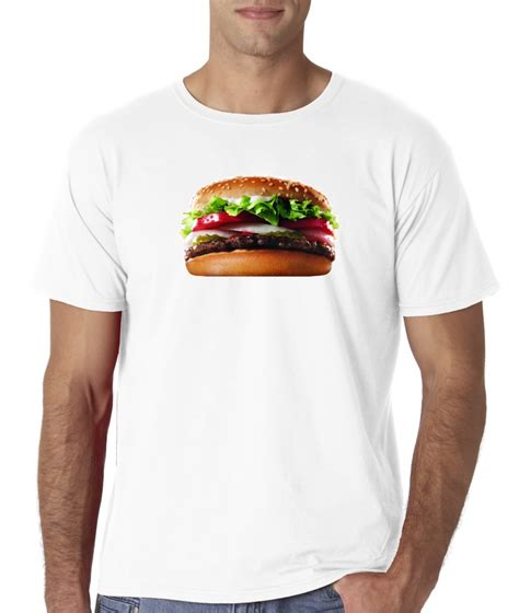Food Tshirt mens hamburger sandwich tomato lettuce burger food t shirt