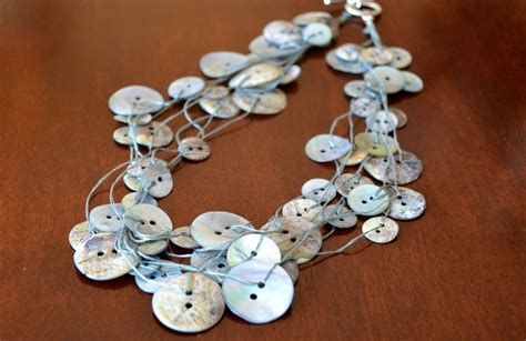 how to make button jewelry let s make a button necklace in stitches