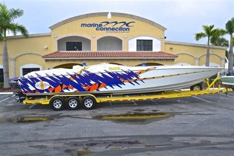 cigarette boat trailer used 2000 cigarette 42 tiger boat for sale in west palm