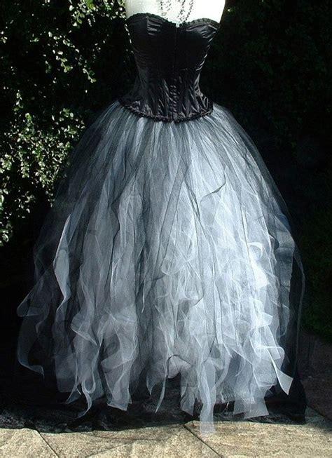 womens white black tutu skirt tulle by