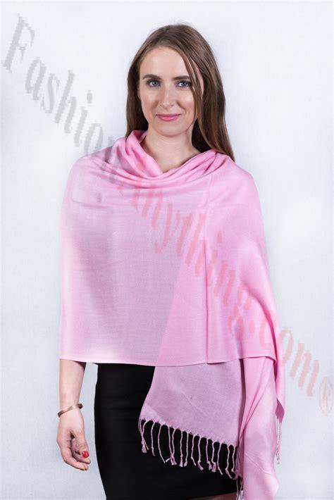 Silky Pashmina 1 silky soft solid pashmina scarf pink
