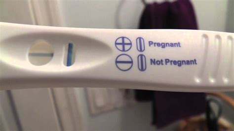 Light Positive Pregnancy Test by Pin Evaporation Line Clearblue On