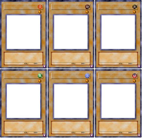 yu gi oh card template photoshop exodia normal monster templates by hellbond on deviantart