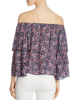 Blouse Minori ella moss minori mosaic shoulder blouse in blackberry modesens