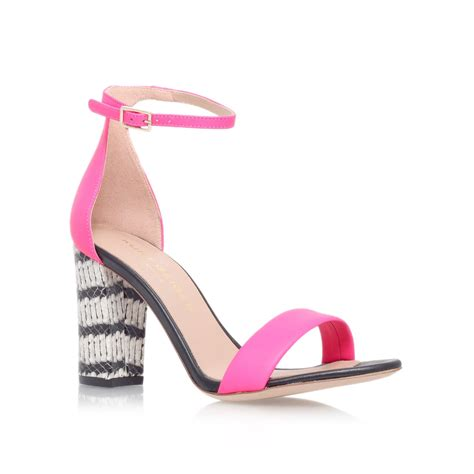 pink high heel sandals kurt geiger high heel sandals in pink fuchsia