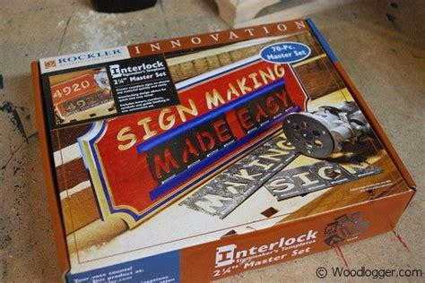interlock sign making kit by rockler review woodlogger
