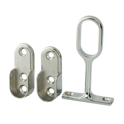 italio oval wardrobe rail support kit 15mm chrome