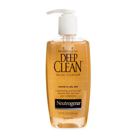 deep clean neutrogena deep clean facial cleanser 200ml woolworths co za