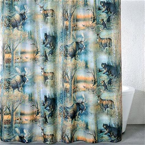 Wildlife Shower Curtains Woodland Wildlife Shower Curtain