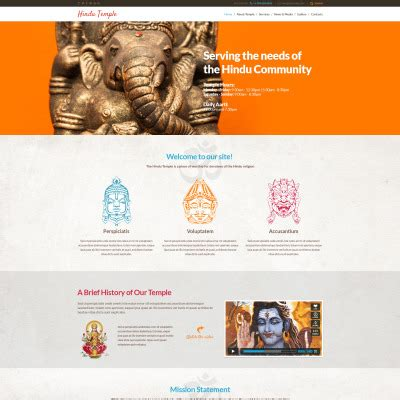 bootstrap templates for hindu temples hinduism templates templatemonster