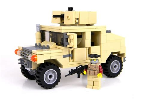 lego army humvee army humvee 1 figure custom set made with