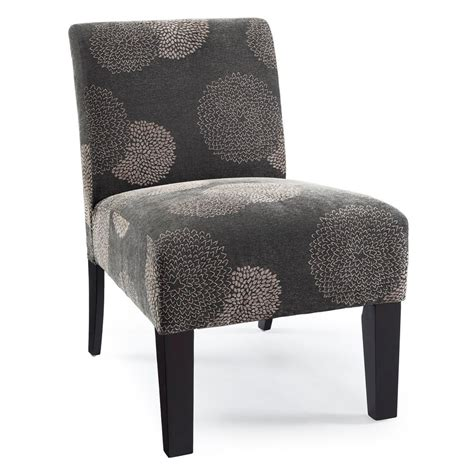 shop dhi deco grey sunflower polyester accent chair at