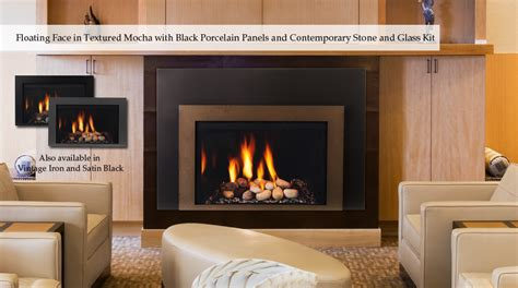 triumph direct vent gas insert by majestic fireplace