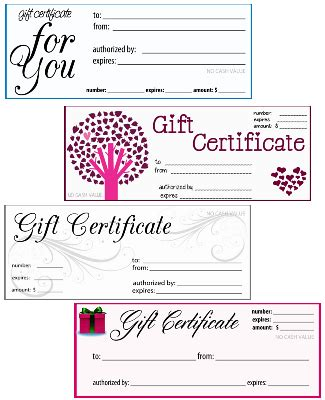 odeon printable gift certificates 10 best images of blank gift certificates for business