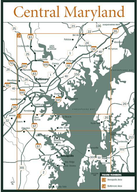 maryland map book sherpa guides chesapeake bay central maryland