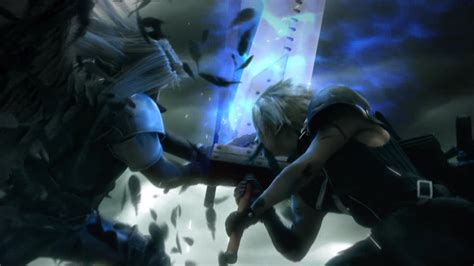 ff vs cloud and sephiroth clash epically the lifestream