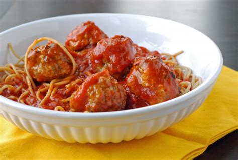turkey meatballs with quick and spicy tomato sauce and spices for spaghetti and meatballs