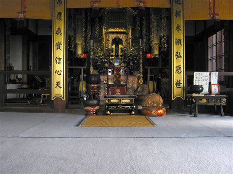 Japanese Temple Interior by Interior Of Another Temple At Chion In