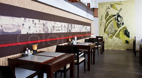 Japanese Style Home Plans Japanese Restaurant Interior Stock Photo Colourbox