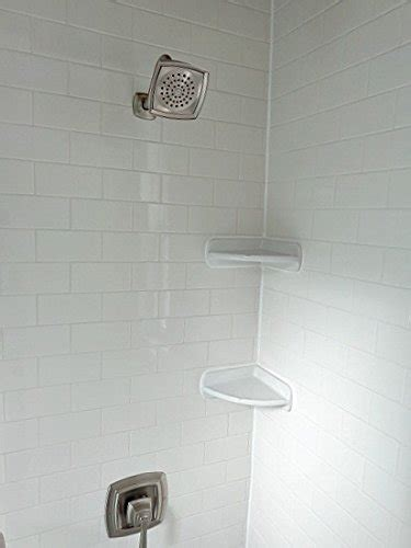 daltile corner shower shelf wall accessory white 812quotx8