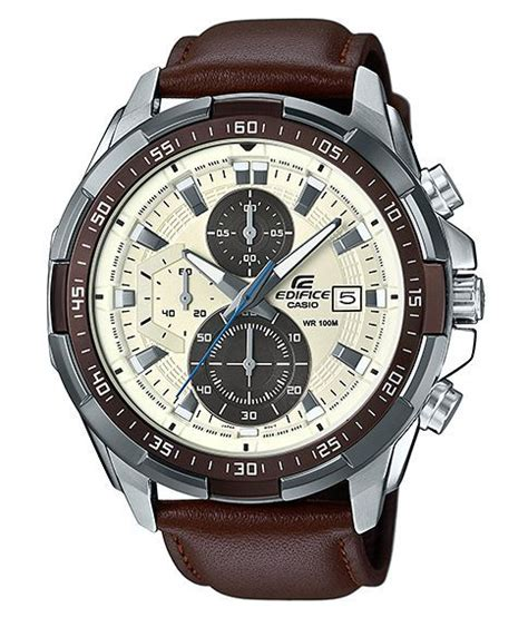 Murah Jam Tangan Pria Casio Edifice Ef 547d 7a1v Harga Ritel Rasa Gr casio edifice efr539l 7b chronograph ion plated bezel brown leather band 100m wr ebay
