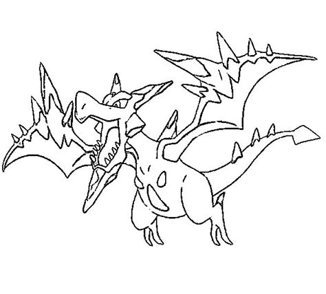 pokemon coloring pages mega salamence coloriage pokemon mega evolues mega ptera 142 142