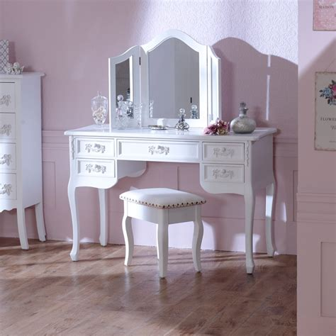 white bedroom dressing table antique white dressing table desk with triple mirror and
