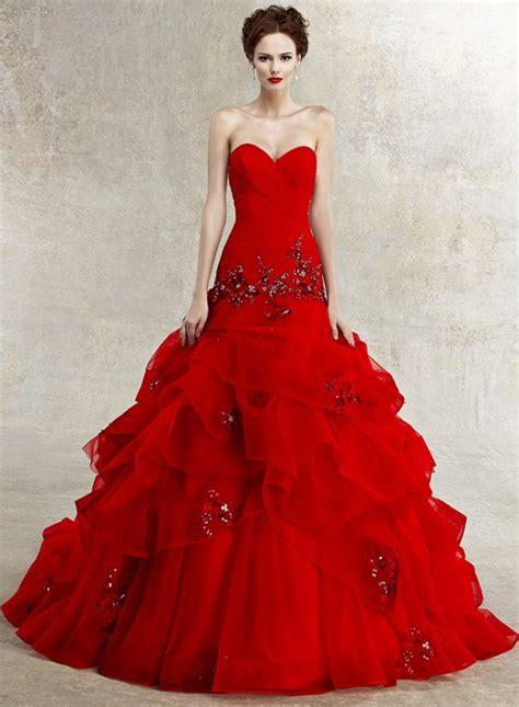 red wedding dresses vera wang modern fashion styles