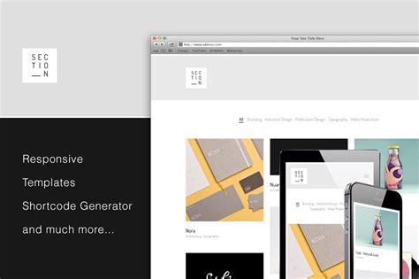 wordpress sections section responsive portfolio theme wordpress minimal