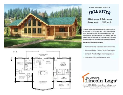 log home floorplan fall river the original lincoln logs