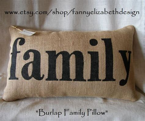 Family Pillows by Lg Burlap Quot Family Quot Pillow Free Shipping Decorative