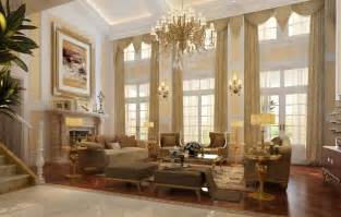 Drapes For Large Windows Ideas Living Room Luxury Living Room Interior Design Ideas