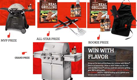 Weber Grill Sweepstakes 2016 - weber grills sauces seasonings prize pack giveaway 91 winners win weber q 3200