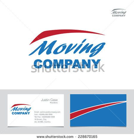 moving company business card template moving company business sign business card stock vector