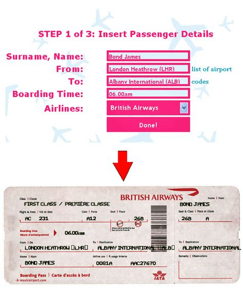 printable pretend tickets ticket o matic is the best fake airline ticket generator