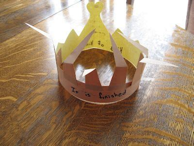 christian craft gold triquetrum he is worthy crown of thorns and gold great idea still wishing i had patience to teach sunday