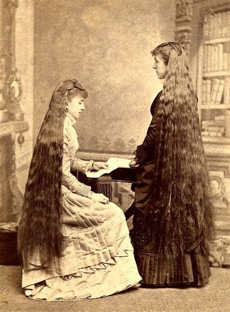 bewitching compendium  victorians letting  hair