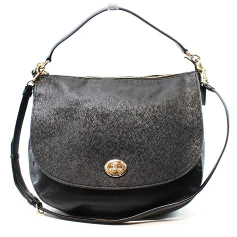 Coach Htons Leather Purse by Coach New Black S Shoulder Hobo Handbag Leather