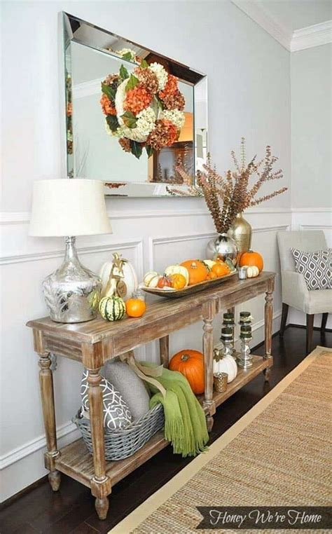 How To Decorate An Entryway Table For Fall