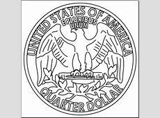 Clip Art: Quarter Back B&W I abcteach.com | abcteach Quarter Clipart