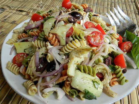 pasta salad recipes cold cold rotini artichoke salad easy recipes and stuff