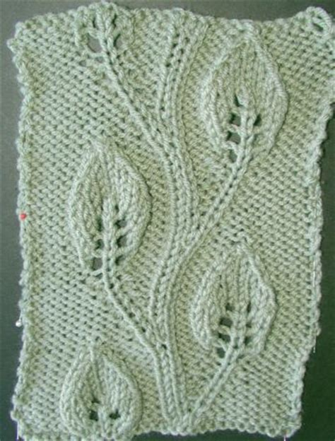 leaf pattern vine embossed twining vine leaf knitting stitches and patterns