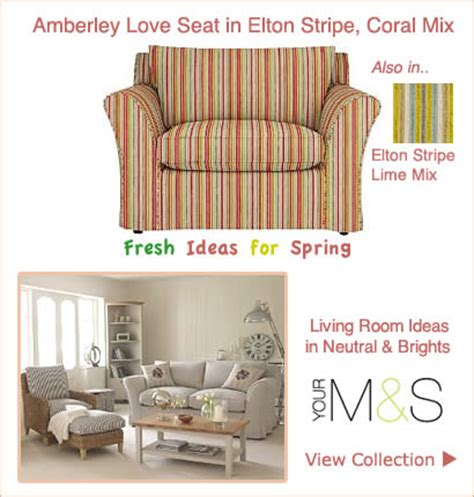 marks and spencer upholstery fabric marks spencer stripe fabric love seat fixed loose cover sofa