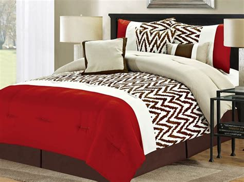 7 pc bentley comforter set red multiple sizes