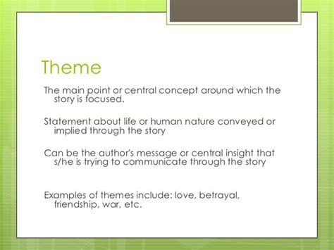 theme narrative exles narrative elements