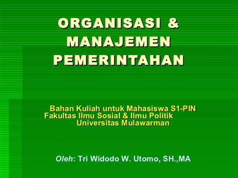 Ilmu Politik Inu Kencana Syafiie organisasi manajemen pemerintahan