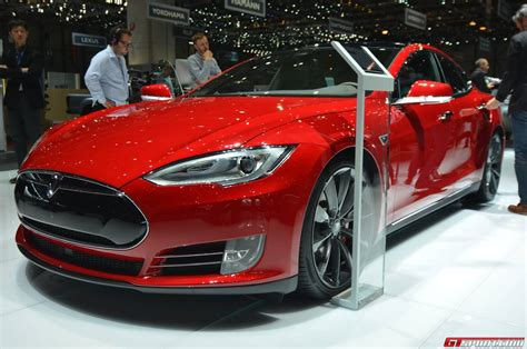 Tesla P85d Motor Geneva 2015 Tesla Model S P85d