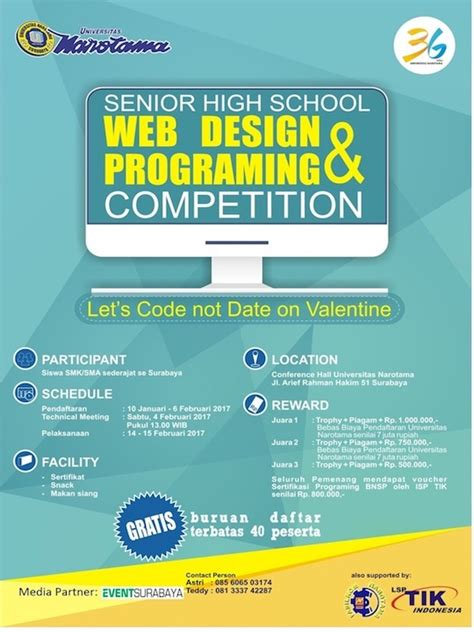 design competition indonesia web design programing competition by universitas