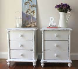 lilyfield life shabby chic white bedside tables